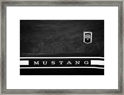 1966 Ford Mustang Emblem Framed Print by Jill Reger