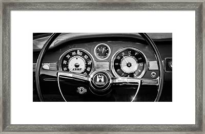 1966 Volkswagen Vw Karmann Ghia Steering Wheel Framed Print