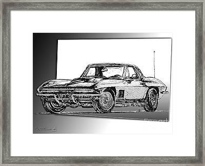1967 Corvette Framed Print by J McCombie