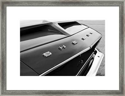 1968 Shelby Gt350 Hood Emblem Framed Print by Jill Reger
