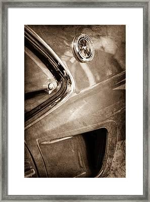 1969 Ford Mustang Mach 1 Emblem Framed Print by Jill Reger