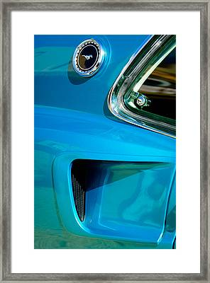 1969 Ford Mustang Mach 1 Side Emblem Framed Print