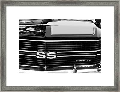 1970 Chevrolet Chevelle Ss Grille Emblem Framed Print