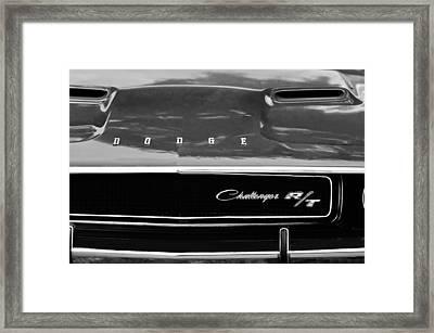 1970 Dodge Challenger Rt Convertible Grille Emblem Framed Print