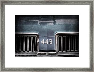 1970 Oldsmobile 442 Grille Emblem Framed Print by Jill Reger