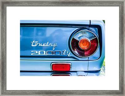 1972 Bmw 2000 Tii Touring Taillight Emblem -0182c Framed Print