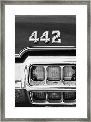 1972 Oldsmobile 442 Taillight Emblem Framed Print