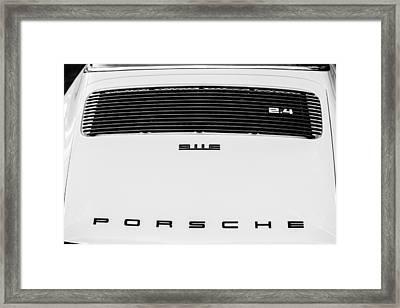 1973 Porsche 911 E Targa Rear Emblems Framed Print by Jill Reger