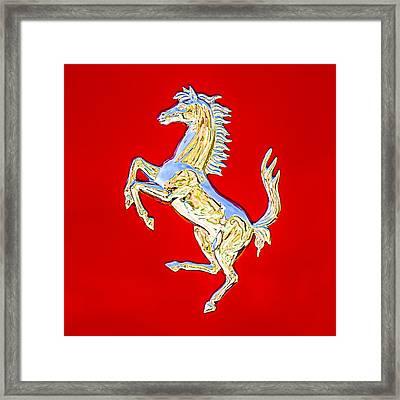 1999 Ferrari 550 Maranello Stallion Emblem Framed Print