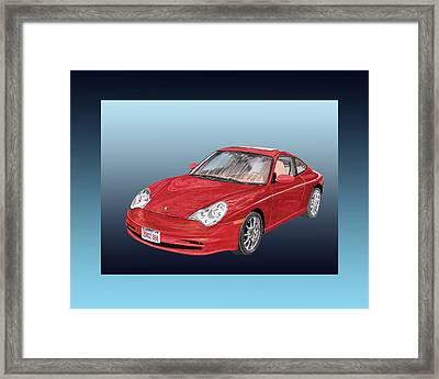 Porsche 996 Framed Print by Jack Pumphrey