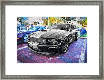 2007 Ford Mustang Shelby Gt Painted  Framed Print
