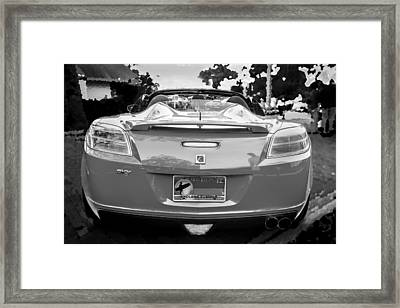 2008 Saturn Sky Bw Framed Print by Rich Franco