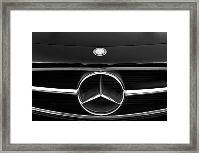 300 Mercedes-benz Sl Roadster Hood Emblem Framed Print by Jill Reger