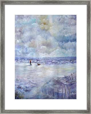 34th St. Beach Framed Print by Loretta Luglio