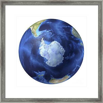 3d Rendering Of Planet Earth, Centered Framed Print by Leonello Calvetti