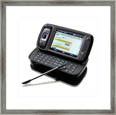 3g Pda Phone Framed Print