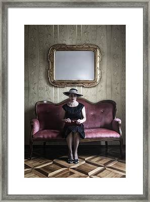 40s Lady Framed Print