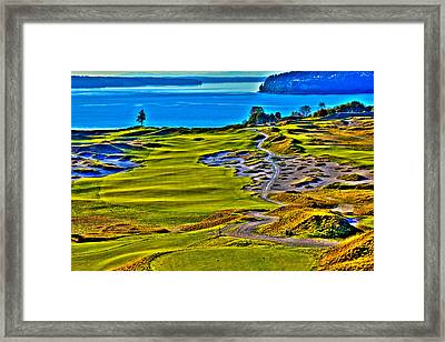 #5 At Chambers Bay Golf Course - Location Of The 2015 U.s. Open Tournament Framed Print by David Patterson