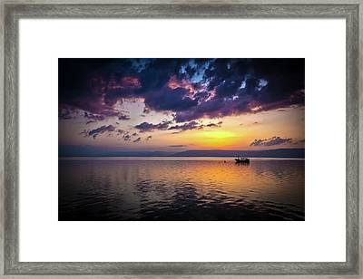 A Calm Settles On The Sea Of Galilee Framed Print by Reynold Mainse
