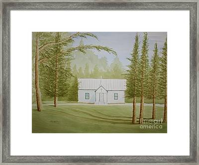 Framed Print featuring the painting A North Carolina Church by Stacy C Bottoms