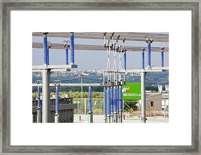 A Photo Voltaic Solar Power Station Framed Print