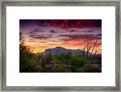 A Superstition Sunrise  Framed Print