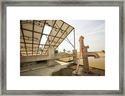 A Wwf Project To Supply Electricity Framed Print by Ashley Cooper