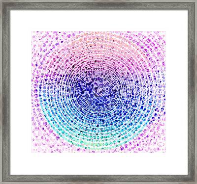 Abstract Dot Framed Print