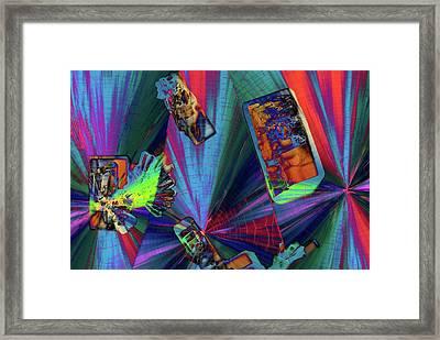 Abstract Polarised Light Micrographs Framed Print