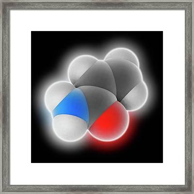 Acrylamide Molecule Framed Print