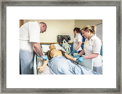 Acute Care And Resuscitation Training Framed Print