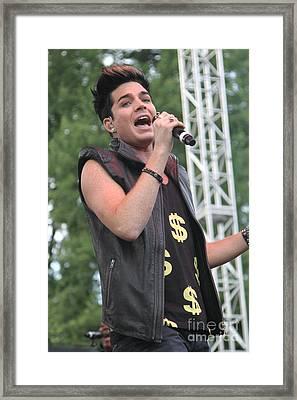Adam Lambert Framed Print by Concert Photos