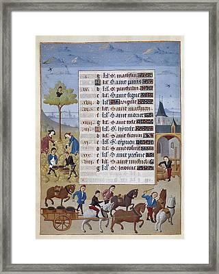 Adelaida De Saboya, Maestro De15th C Framed Print by Everett