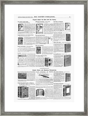 Advertisement Books, 1890 Framed Print by Granger