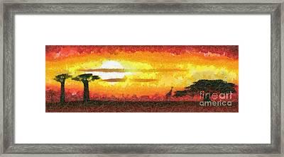 Africa Sunset Framed Print