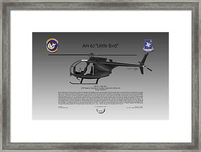 Ah-6j Little Bird Framed Print
