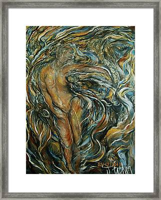 Framed Print featuring the painting Air by Dawn Fisher