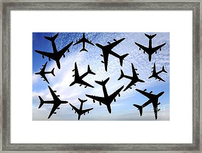 Air Traffic, Conceptual Image Framed Print by Victor de Schwanberg