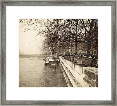 Album Flooding Paris Suburbs In 1910, France Framed Print