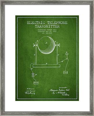Alexander Graham Bell Electric Telephone Transmitter Patent From Framed Print