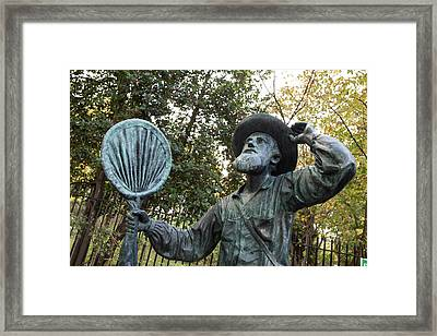 Alfred Russel Wallace Statue Framed Print by Natural History Museum, London