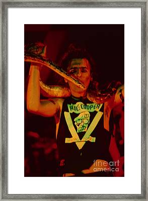 Alice Cooper At The Concord Pavillion Framed Print