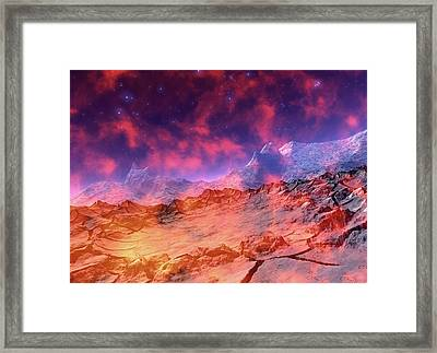 Alien Planet Framed Print by Victor Habbick Visions/science Photo Library