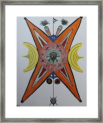 Alien Test Pattern. Framed Print by Ken Zabel