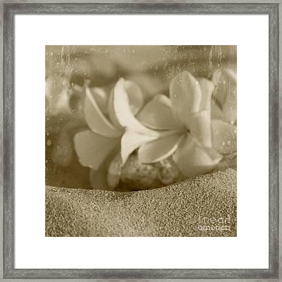Aloha'lani Pua Melia Lei Manakai Framed Print by Sharon Mau