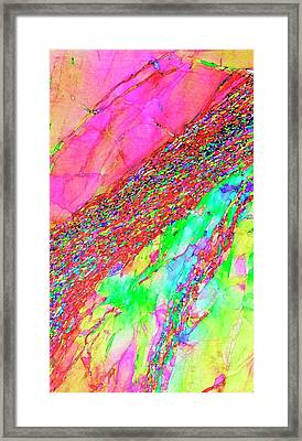 Aluminium Deformation Framed Print by Ammrf, University Of Sydney