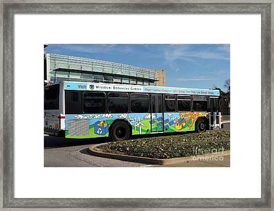 Ameren Missouri And Missouri Botanical Garden Metro Bus  Framed Print