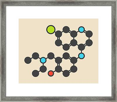 Amodiaquine Anti-malarial Drug Molecule Framed Print