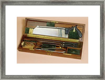 Amputation Instruments Framed Print by Science Photo Library