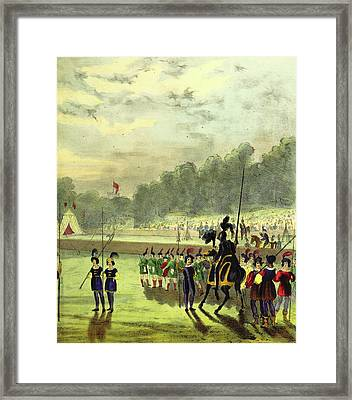 An Account Of The Tournament At Eglinton Framed Print by Litz Collection